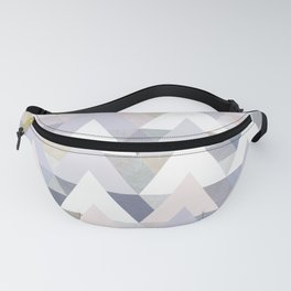 Pastel Graphic Winter Peaks on Geometry #abstractart Fanny Pack