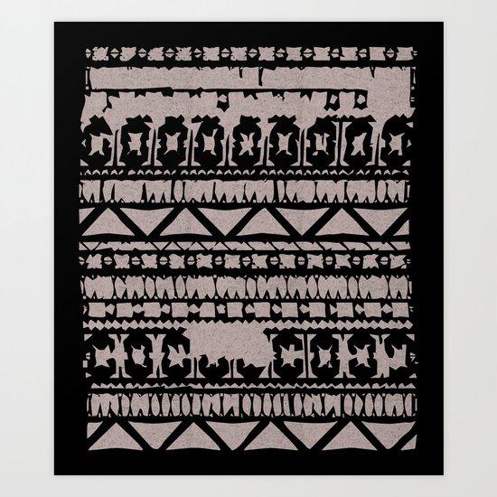 Aztec 4# Art Print