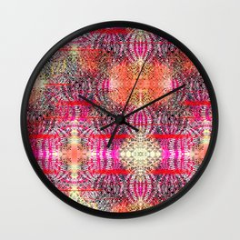 Textured Tiles Wall Clock