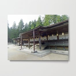 wooden shrine on Mount Koya Metal Print