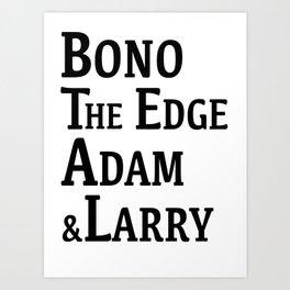 Band Art Print