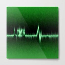 Heart or pulse rate effect Metal Print