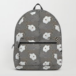 Cheshire Coton - grin trippy psychedelic puppy  in wonderland Backpack
