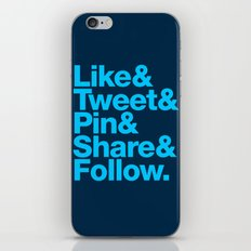 The Social Type iPhone & iPod Skin