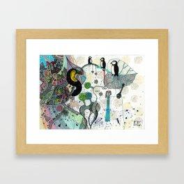 """""""Toucan and penguins"""" Framed Art Print"""