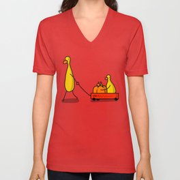 Pumpkin Wagon Unisex V-Neck