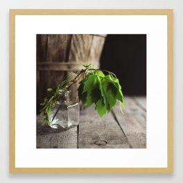 Green & Brown Framed Art Print