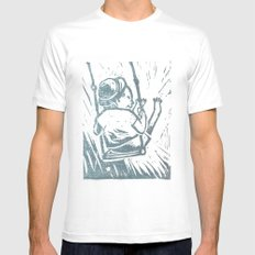 swing time MEDIUM White Mens Fitted Tee