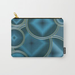 Blue Satin abstract pattern . Carry-All Pouch