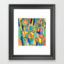 Floral Sunburst Framed Art Print