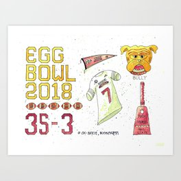 2018 Egg Bowl Art Print