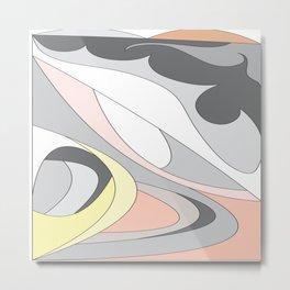 Colorful Curves by FreddiJr Metal Print