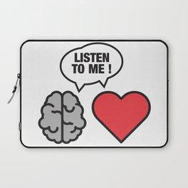 head vs. heart Laptop Sleeve