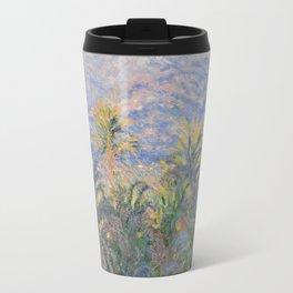 Monet - Palm Trees at Bordighera Travel Mug