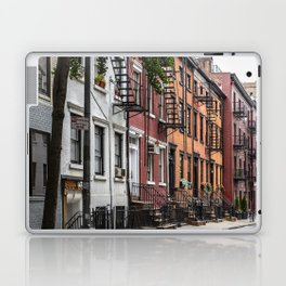 Picturesque street view in Greenwich Village, New York Laptop & iPad Skin
