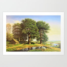 Outskirts of the village Art Print
