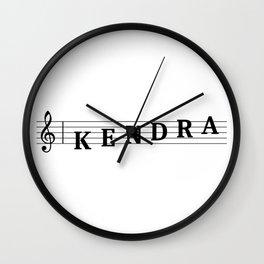 Name Kendra Wall Clock