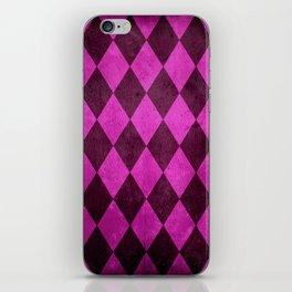 Fuchsia Harlequin Grunge iPhone Skin