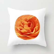 orange rose petals X Throw Pillow