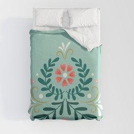 Floral Folk Pattern Duvet Cover
