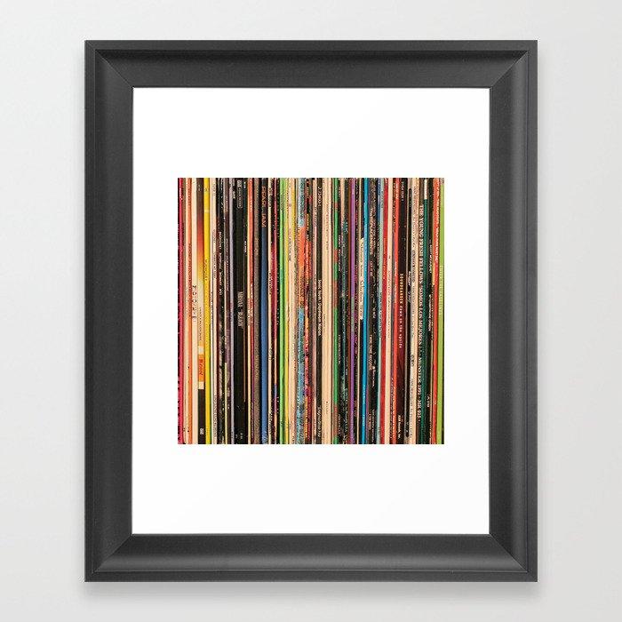 Alternative Rock Vinyl Records Gerahmter Kunstdruck