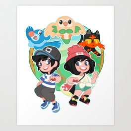 Trainers Ready to Battle Art Print