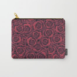 Red smoky rose . Roses . Carry-All Pouch