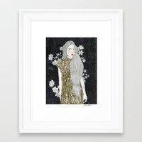 gold glitter Framed Art Prints featuring Gold Glitter  by Juana Andres