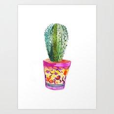 Cactus Watercolour Art Print