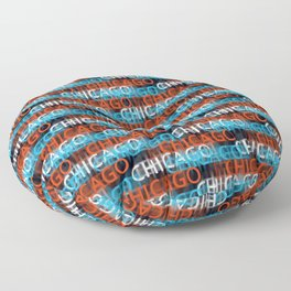Chicago on my mind Floor Pillow