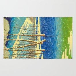 Kawase Hasui Vintage Japanese Woodblock Print Rug