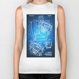 Baseball Glove Patent Blueprint Drawing Biker Tank