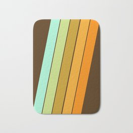 Fer Shure - retro throwback minimal 70s style decor art minimalist 1970's vibes Bath Mat