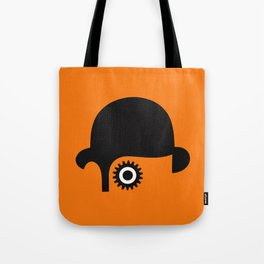 A Clockwork silhouette Tote Bag