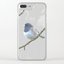 Dark-Eyed Junco on Branch Clear iPhone Case