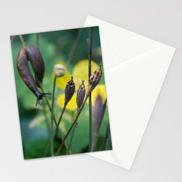 slug dancing on a poppy Stationery Cards
