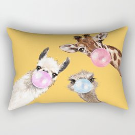 Bubble Gum Gang in Yellow Rectangular Pillow