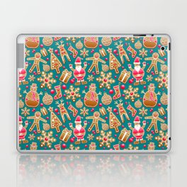 Cute Christmas Gingerbread Cookie Pattern Laptop & iPad Skin