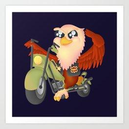 Cute Eagle Art Print