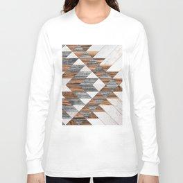 Urban Tribal Pattern No.12 - Aztec - Wood Long Sleeve T-shirt