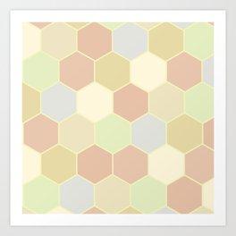 Honeycomb pastel Art Print