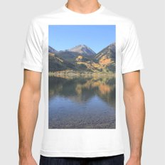 Twin Lakes, CO Mens Fitted Tee White MEDIUM