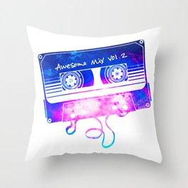 Awesome Mix Vol.2 [White] Throw Pillow