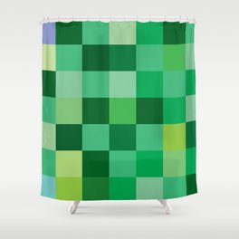 Squares of Luck Shower Curtain