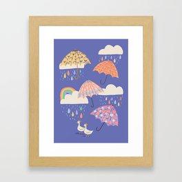 Spring Showers with Ducks Framed Art Print
