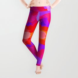 Purple, pink and orange tie dye Leggings