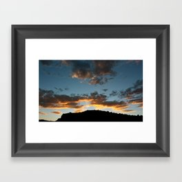Western Colorado Sunset Framed Art Print