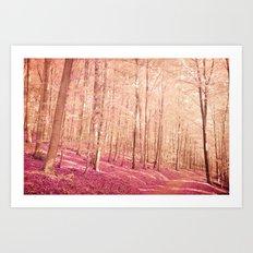 pink path Art Print