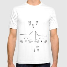 cat and cat White MEDIUM Mens Fitted Tee