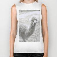 llama Biker Tanks featuring Llama by Cat In The Sorting Hat